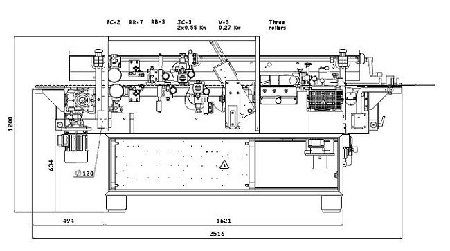 Схема станка BRIKO - S