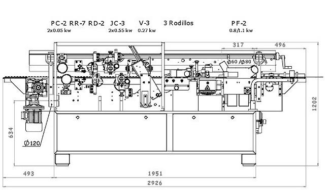 Схема станка BRIKO - РS